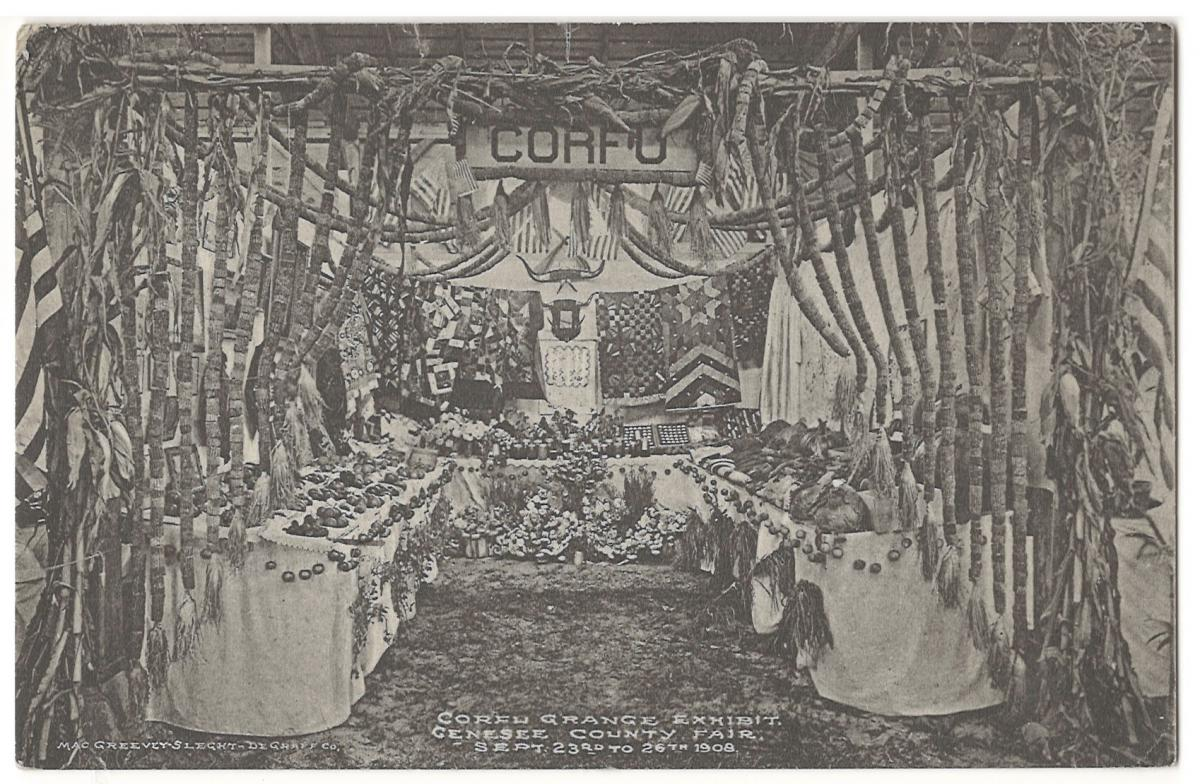 Corfu Grange Exhibit Genesee County Fair September 23 - 26, 1908