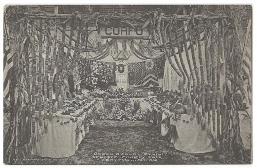 Corfu Grange Exhibit Genesee County Fair September 23 - 26, 1908
